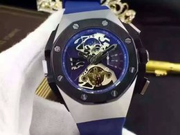 Wholesale Men Luxury Automatic Watch Replicas - New Luxury Brand Mens Watch Royal Oak Offshore Limited Edition Lebron japan movt china cheap replicas Chronograph Men wrist Watches