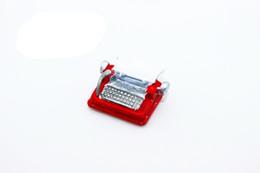 Wholesale rement miniature - G05-X4558 children baby gift Toy 1:12 Dollhouse mini Furniture Miniature rement Mini Iron typewriter 1pcs