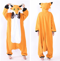 Wholesale Fox Onesie - Mr Fox Cosplay Costumes Onesie Pajamas Kigurumi Jumpsuit Hoodies Adults Romper For Halloween Mardi Gras Carnival