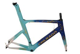 Wholesale Carbon Road Bicycle 48cm - Whosale Colnago 2017 CHLB Concept Road Bicyle Carbon Frame Carbon Bicycle Frame Size XXS,XS,S,M,L,XL BB386(BB30 or BB68 adapter) Blue-Gold