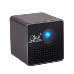 Wholesale Micro Dlp Projector - Wholesale- P1 DLP Micro Projector 30 lumens LED HD Portable Pico Projector Home Cinema Beamer Wired Mini Pocket Theater Beamer Projector