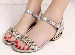 Wholesale Ankle Wrap Flat Sandals - Bling Lady 2017 Flat Sandals Rhinestone Flats Open Toe Summer Shoes womens gladiator sandals designer sandals for women