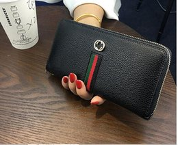 Wholesale High Quality Ladies Leather Wallet - Popular famous designer brand high-grade wallet lady fashion long zipper hand bag manufacturers selling high quality 820 #
