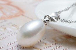 Wholesale moonlight necklace - The moonlight s925 white freshwater pearl pendants
