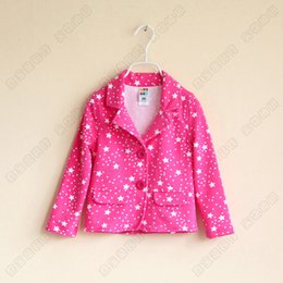 Wholesale Girls Over Coat - High quality Children's Girls Small suit Girls All over sky star Terry coat Wholesale