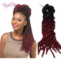 two tone straight dreadlocks braids drop shipping free shipment synthetic hair extension 20strands pcs faux locs synthetic braiding hair Coupon
