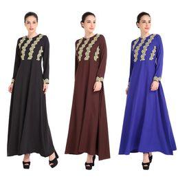 Wholesale Fashion Malaysia - Malaysia Lady Abaya Clothes Turkey Muslim Fashion Women Embroidery Dress Islamic Jilbab And Abayas Dresses Turkish Robe Musulmane Dubai kaft