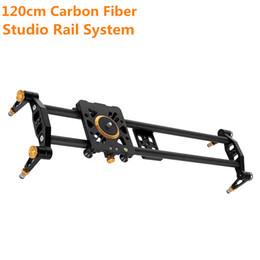 """suportes em forma de c Desconto Novo 120 cm / 47 """"Studio Câmera Sistema de Trilho Slider Trilha de Vídeo Estabilizador Caminho de Trilho Slider Photo Studio Acessórios para DSLR Camera"""