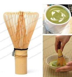 Wholesale Matcha Wholesale - 2017 hot Natural Bamboo Chasen Matcha Whisk Preparing For Green Tea Powder Chasen Brush Tool for Matcha New MYY