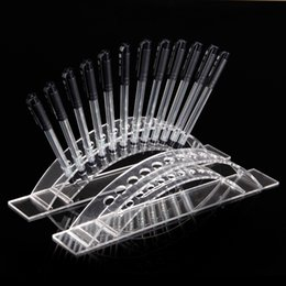 Wholesale Arch Stand - Wholesale High Quality Acrylic Arched Clear View Pen Cosmetic Brush Display Stand Holder