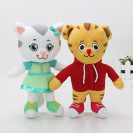 Wholesale Tiger Animal Plush - Tiger's Neighborhood daniel tiger plush toy 20cm 30cm Tiger Daniel Katerina Kittycat stuffed animals kids toys for girls