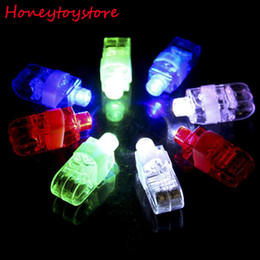 Wholesale Neon Lasers - 100pcs Finger Light Shiny Neon Stick Laser Finger Beams Colorful LED Ring Luminous Toy Glow Dance Toy Shinning Ring Party Supply