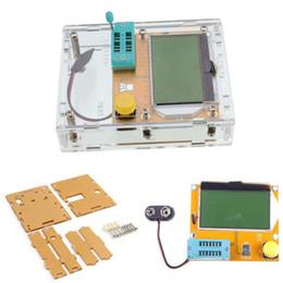 Argentina Probador del transistor Mega328 M328 Multímetro del diodo del multímetro de LCR-T4 Capacitancia Medidor ESR MOS / PNP / NPN Caso del probador del transistor de L / C / R + Suministro