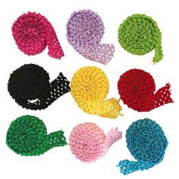 1,5-дюймовый Вязание крючком оголовье стрейч отделка рулон эластичный пояс на метр для пачки юбки полосы DIY пачка поставки 5 метров за лот от