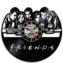 Wholesale friends walls - Friends Popular TV Series Vinyl Wall Clock Christmas Gift