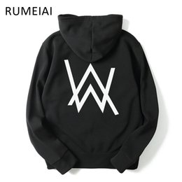 Wholesale Wholesale Hip Hop Men Clothing - Wholesale- RUMEIAI 2017 Mens Hoodies Sweatshirts Music DJ Comedy Alan Walker Hip Hop Hoodie Black Jacket Men Clothes Fashion Hooded Hombre