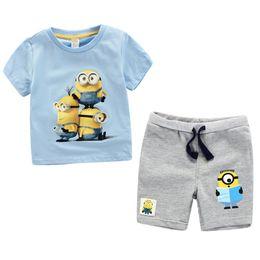Wholesale New Boys Sets - 2017 Summer New Baby Boys Cartoon Short Sleeve T-shirt+ Shorts 2pcs Sets Kids Outfits Children Clothing Fashion Child Cartoon Printing Sets