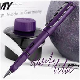 Wholesale Office Gifts Pen - LAMY safari Matte School Business Office Financial Fountain Pen F Nib Special gift Pens Multi-color selection