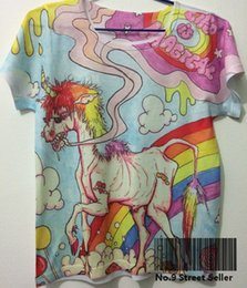 Wholesale Horses Track - Wholesale- Track Ship+Vintage Retro Cool Rock&Roll Punk T-shirt Top Tee Life is Teriiel Poor Old Thin Horse Rainbow Tattoo 0040
