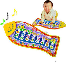 Wholesale Baby Bass - Wholesale- Fashion Baby Piano Music Smart Toys Kids's Fish Animal Gift Mat Touch Kick Play Fun Toy