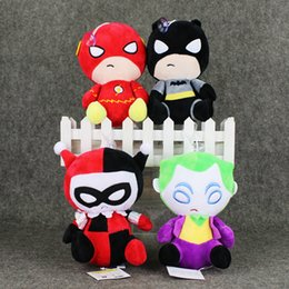Wholesale Cups Video - EMS The Avengers Batman Superman Plush Soft Stuffed Doll Toy for kids gift with Suction Cup free shipping