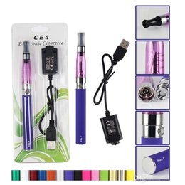 Wholesale Clearomizer Clean - CE4 Electronic Cigarette Blister kits cheap Clean up inventory CE4 ego starter kit e cig EGO-T battery blister Clearomizer E-cigarette