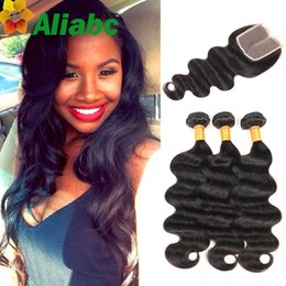 Wholesale Unprocessed Grade Virgin Hair - Brazilian Body Weave With Closure Grade 7a Unprocessed Virgin Hair With Closure Grace Hair Products 3 Bundles And Closure