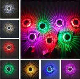 la parete del fiore principale della lampada Sconti 3W LED applique da parete argento decorazione portico lampada fiore sole AC100-240V ombreggiato per indoor LED applique da parete sconce soggiorno camera da letto illuminazione