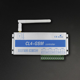 Wholesale Gsm Sms Remote Control - GSM SMS Controller Home Security Wireless Remote Control Switch 4 Relay CL4-GSM US  UK  EU Plug Ann
