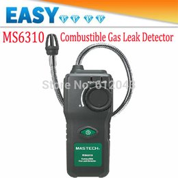 Wholesale Propane Lights - Wholesale- MASTECH MS6310 High Sensitivity Combustible Gas Leak Detector Tester Meter Propane Natural Gas Analyzer With Sound Light Alarm