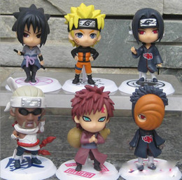 naruto sakura figures Coupons - 7cm Japan Jump Comics Naruto Action Figure Kakashi Sakura Sasuke PVC Toys Collectible Model Figurine 6Pcs Set
