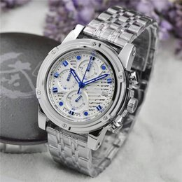 Wholesale Brand Selection - Brand mens luxury watches top quartz movement silver stainless steel case strap men's selection of business and leisure watches