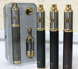 Wholesale E Cigs Mods Batteries Atomizers - Vision Spinner 3 III Kit Carbon Battery 1600mAh E-Cigs Cigarettes MOD Kit Cariable Voltage 3.3v-4.8v Protank 2 Atomizer Vapors