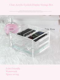 Wholesale Drawer Gift Box - Crystal Clear Acrylic, Deluxe Deep Drawer eyelash storage. 6 Tiers eyelash display box Echo Friendly Space saving eyelash organizer