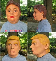 Wholesale Free People Usa - 2016 hot selling USA President Mr Trump Latex mask Donald Trump LATEX Mask Halloween Occasion party masks cosplay mask festival face masks