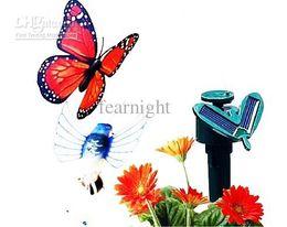 2pcs magazzino vendita al dettaglio di energia solare Flying Butterfly Garden Yard Decorazione solare butteryfly suppot scegliere stili da