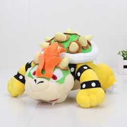 "Wholesale Mario Brothers Games - Newest Super Mario plush toys 10"" Koopa Bowser dragon plush doll Brothers Bowser JR soft Plush"