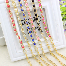 Wholesale Bronze Beaded Dress - Spring ladies dress accessories metal chain pearl pendant all-match Yaolian multicolor fine pearl Yaolian wholesale