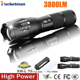 Wholesale E17 Cree - E17 XM-L T6 3800LM Tactical cree led Torch Zoomable cree LED Flashlight Torch light for AAA or 1xRechargeable 18650 battery