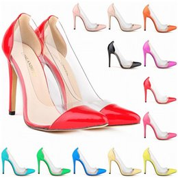Wholesale Cut Work Dress - Europe Style Special Offer Femininos Women Shoes Patent Pu High Heels Pointed Corset Style Work Pumps Court US Size 4-11 D0006