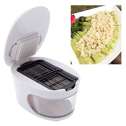 Wholesale Dice Kitchen - 3 in 1 Plastic Garlic Press Presser Grater Dicing Slicing and Storage Kitchen Fruit Vegetable Cooking Tools
