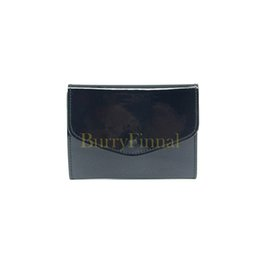 Wholesale Bank Coins - Fashion brand patent leather card case luxury folding business ID bank card bag coin purse designer tote logo clutch bag boutique VIP gift