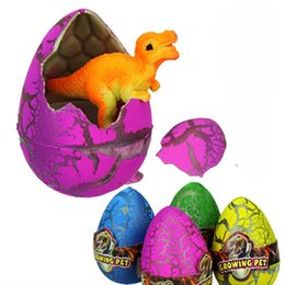 Wholesale Grow Eggs - Wholesale-1PCS Cute Magic Growing Egg Child Gift Hatching Dinosaur egg Children's Toys