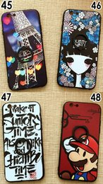 Wholesale Custom Iphone Paint - New For iphone7   6s Creative Painting Embossed Phone Case Finger Buckle Bracket Protection to Map Custom Retail Bag DHL Free Shipping