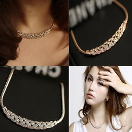 Wholesale Special Offers Dresses - Special offer wholesale in Europe and America jadoku chain with exaggerated twist drill diamond Choker Necklace Chain Collar Dress