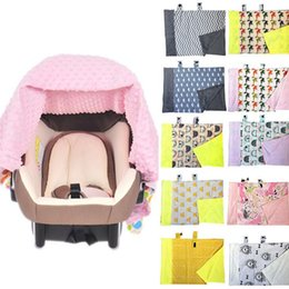 Wholesale Breastfeeding Blankets - Baby Blankets INS Car Seat Cover Nursing Breastfeeding Canopy Shoping Cart Covers Infant Stroller Sleep By Canopy Chair Cover KKA2481