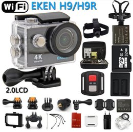 Wholesale Dvr Home - Action Camera eken H9R   H9 Ultra HD 4K WiFi Remote Control Sports Video Camcorder DVR DV go Waterproof pro Camera