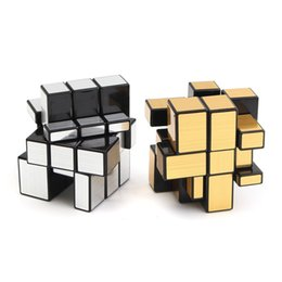 Wholesale Funny Tests - Funny 3x3x3 Mirror Magic Speed Cube Ultra-smooth Professional Puzzle Twist Toy Gift Magic Cube Brain Teaser IQ Test Toys