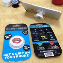 Wholesale Packaging Pop - Pop Mobile Phone Holder Finger Ring Cellphone Stand Mount Bracket Multifunction for iPhone Samsung Tablets 3m Glue retail package