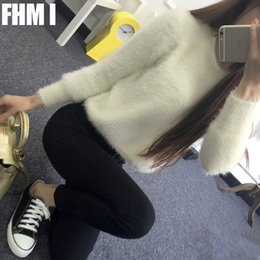 Wholesale Short Wind Coat - Wholesale-2016 winter mohair sweater women hedging short paragraph female Korean sweater coat thick loose clothes College wind C080